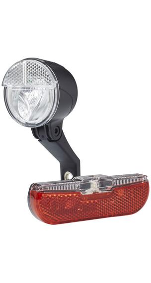 Trelock LS 593 BIKE-i mini / LS 613 Duo Flat Dynamolampor svart